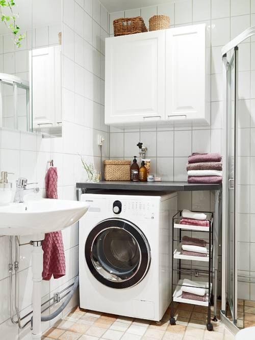 cmo decorar un bao pequeo con lavandera integrada with como de corar un bao