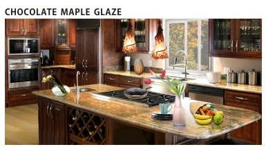 Wholesale kitchen cabinets online contemporary discount for Chocolate maple glaze kitchen cabinets