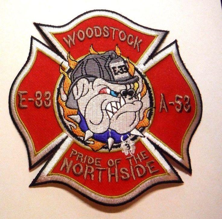 WOODSTOCK ILLINOIS FIRE RESCUE E-33 A-53 PRIDE OF THE NORTHSIDE PATCH UNUSED
