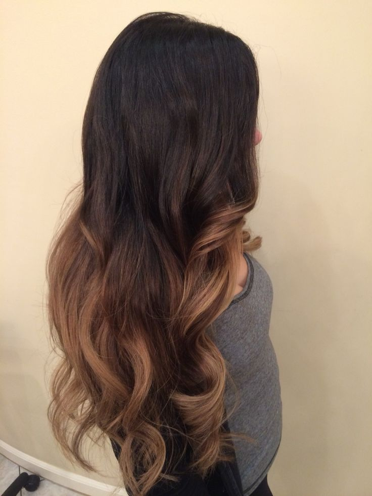 Dark Brown Balayage Somber Ombr 233 Hand Painted Highlights