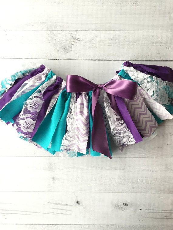 Purple Teal Chevron Tutu Fabric Tutu Baby Girl by MeadowsMarvels
