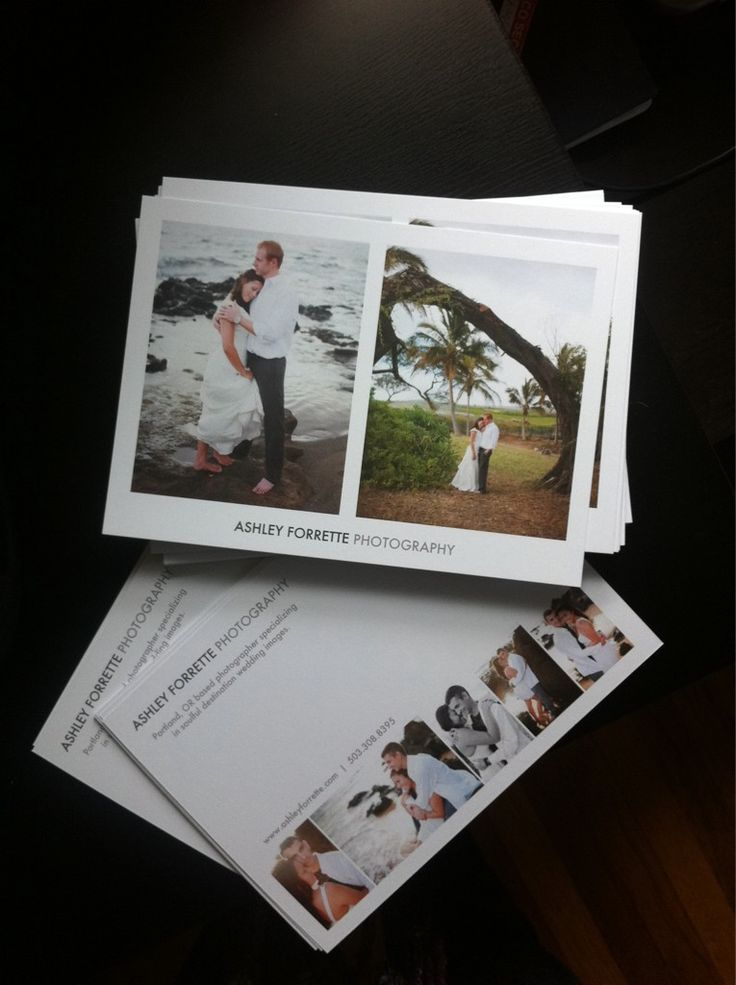 Postcards by Ashley Forrette.  Clever marketing idea to advertise for destination photography.