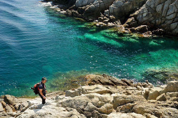Corso di fotografia sportiva in acqua all'Isola d'Elba, Miniere di ferro, il Ginevro,Paolo Meitre Libertini Nikon school.