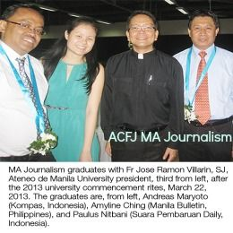 ACFJ MA Journalism Fellowships at Ateneo de Manila University in Philippines, and applications are submitted till 15 January 2016. Konrad Adenauer Asian Center for Journalism at Ateneo de Manila University awards MA Journalism fellowships for Asian working journalists. - See more at: http://www.scholarshipsbar.com/acfj-ma-journalism-fellowships.html#sthash.KB63sMqa.dpuf