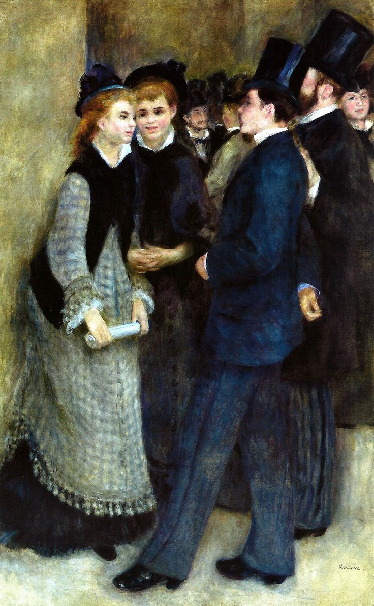 Pierre Auguste Renoir - Leaving the Conservatory, 1877 at the Barnes Foundation Philadelphia PA | by mbell1975