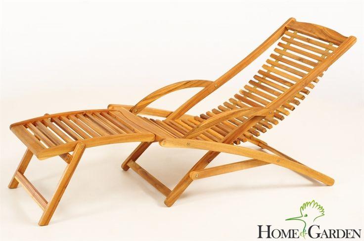 Praktyczny (można złożyć) i niedrogi, materac mógłby być biały z ikei  Leżak Ogrodowy składany Drewniany Akacja