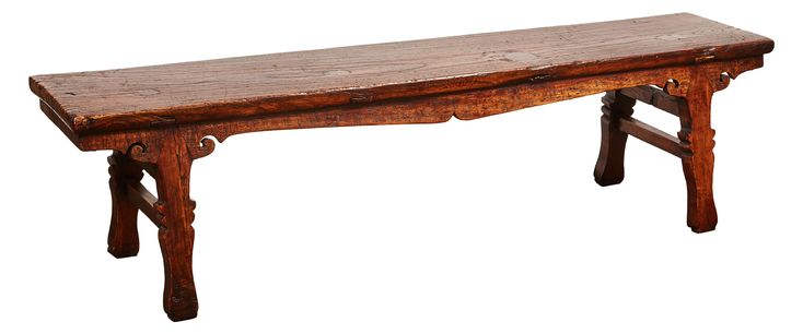 Buy 18th Century Chinese Low Sword Leg Bench/Table by Susanne Hollis, Inc. - Limited Edition designer Benches from Dering Hall's collection of Traditional Asian Benches.