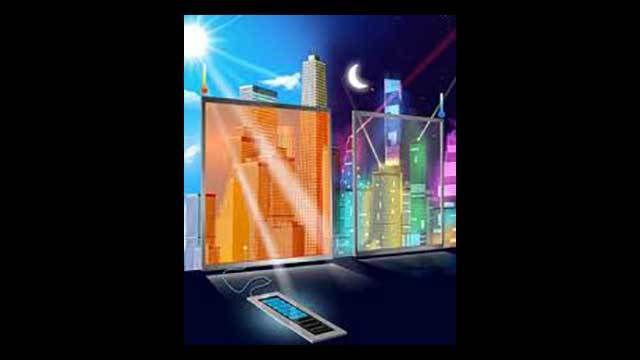 Caesium-Perowskit ermöglicht es, dass Fenster nicht nur ihre Farbe verändern, sondern auch im dunklen Zustand Strom erzeugen. In Zukunft könnten so Bürogebäude selber ihren Energiebedarf decken. Ei…