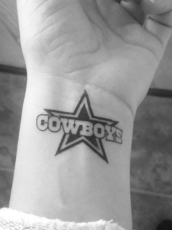 8 tatouages Dallas Cowboys / football / tatouages par ElyZeSHOP