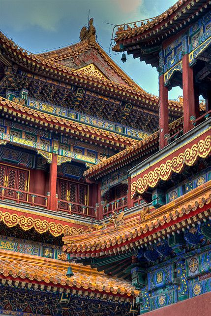 Ornate carvings at Yonghe Gong, Beijing, China ☯ All things China ☯