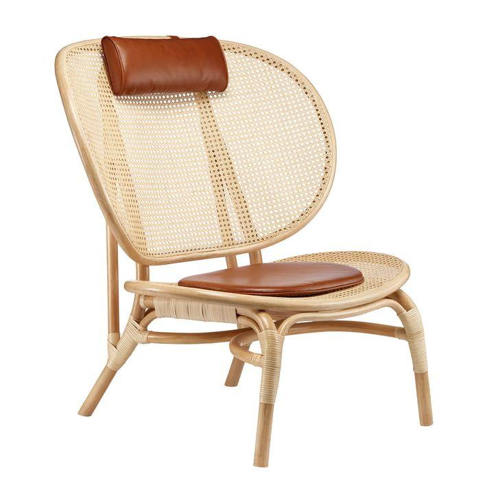 Norr11 Nomad Lounge Sessel Natur Cognac Lounge Sessel