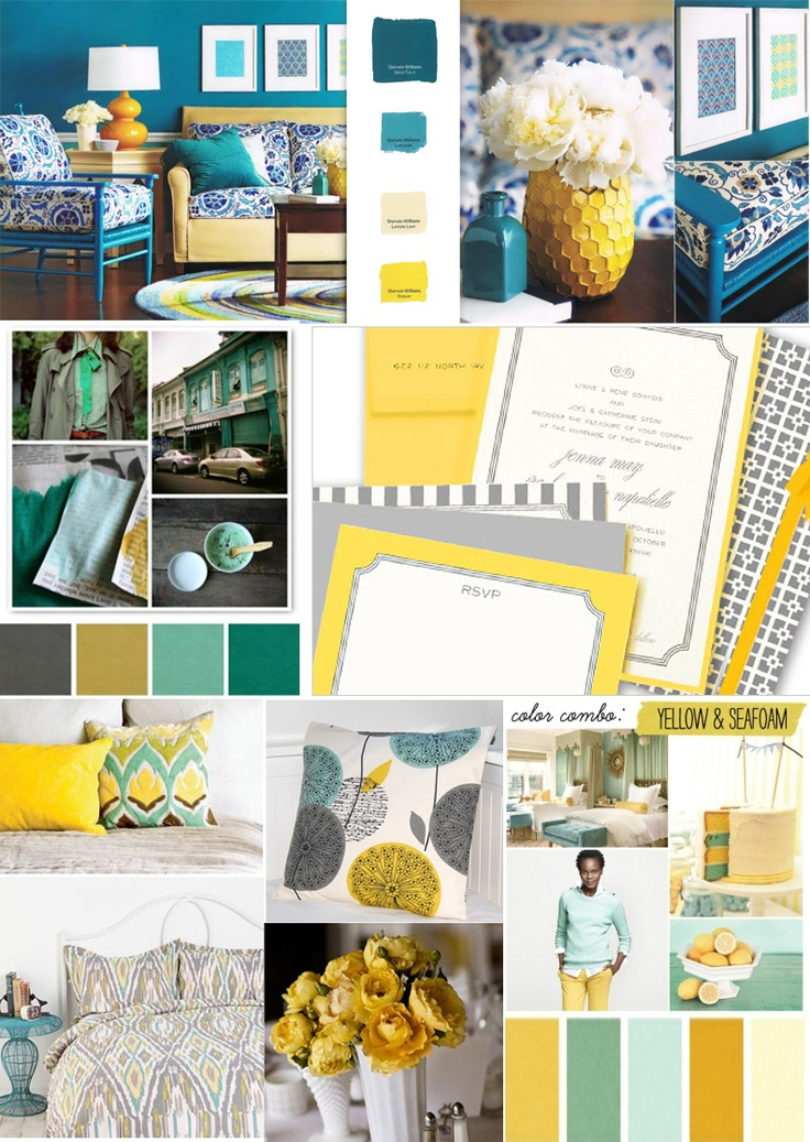 Bold Yellow And Teal Color Palette