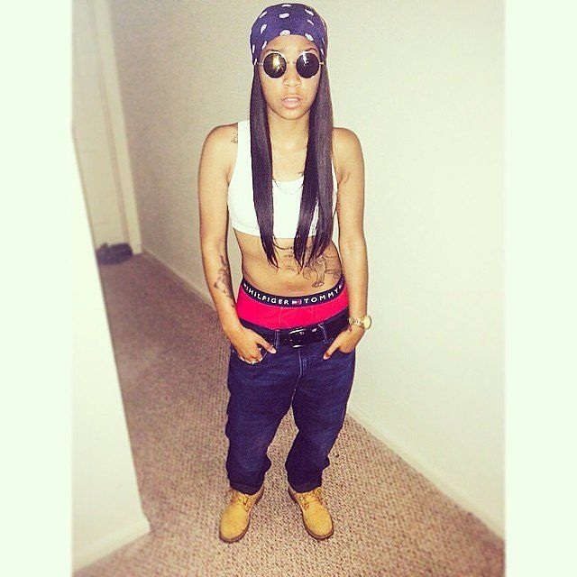 Aaliyah inspired costume to celebrate the late singer this Halloween