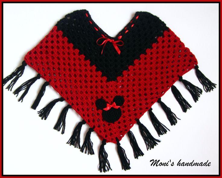 Snood Scarf Knitting Pattern : Minnie mouse crochet poncho Knit and Crochet Pinterest Crochet, Crochet...