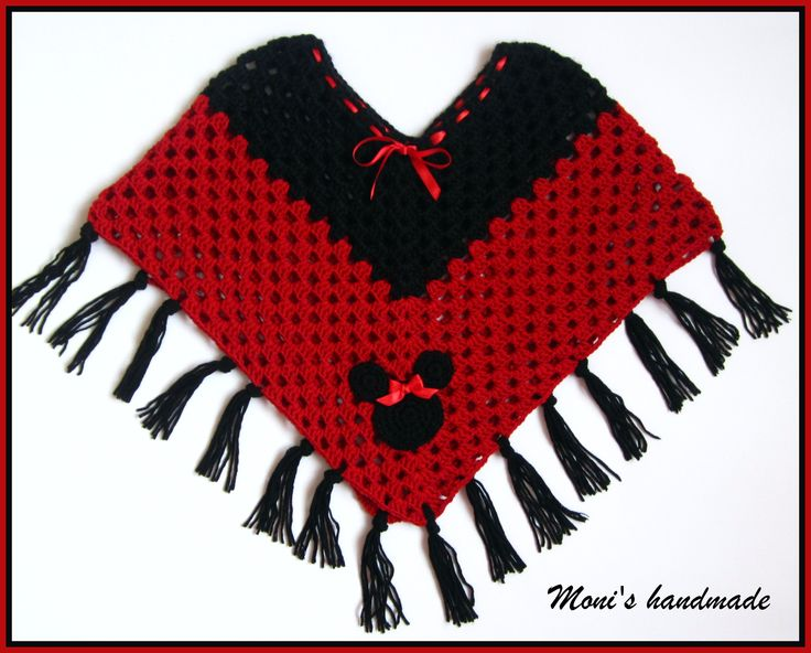 Minnie mouse crochet poncho