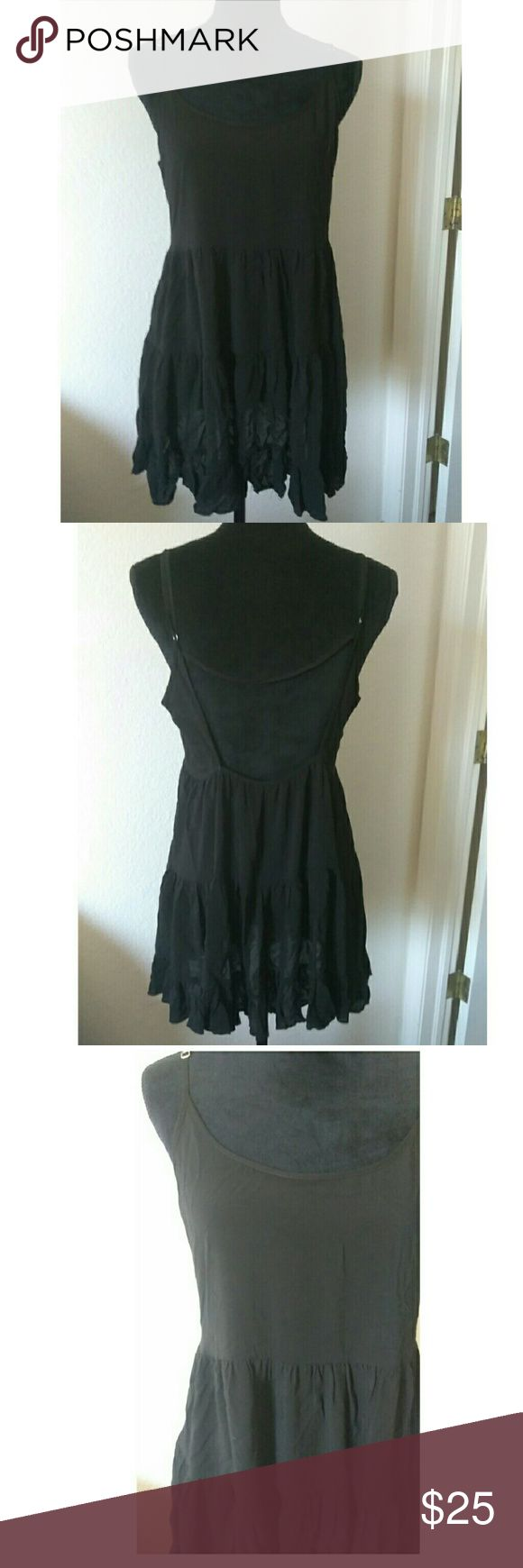 🆕 Brandy Melville Black Cover Up Dress Simple but yet beautiful sheer black sun cover up dress. Spaghetti straps. One Size . 100% Rayon. Brandy Melville Dresses