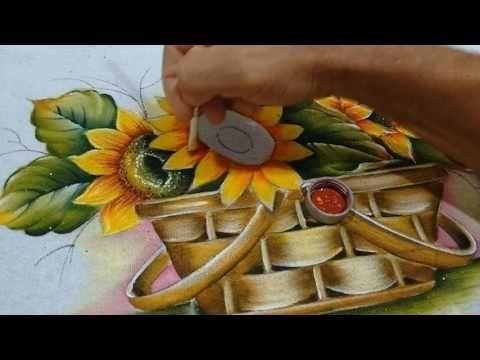 Roberto Ferreira - como pintar girassol