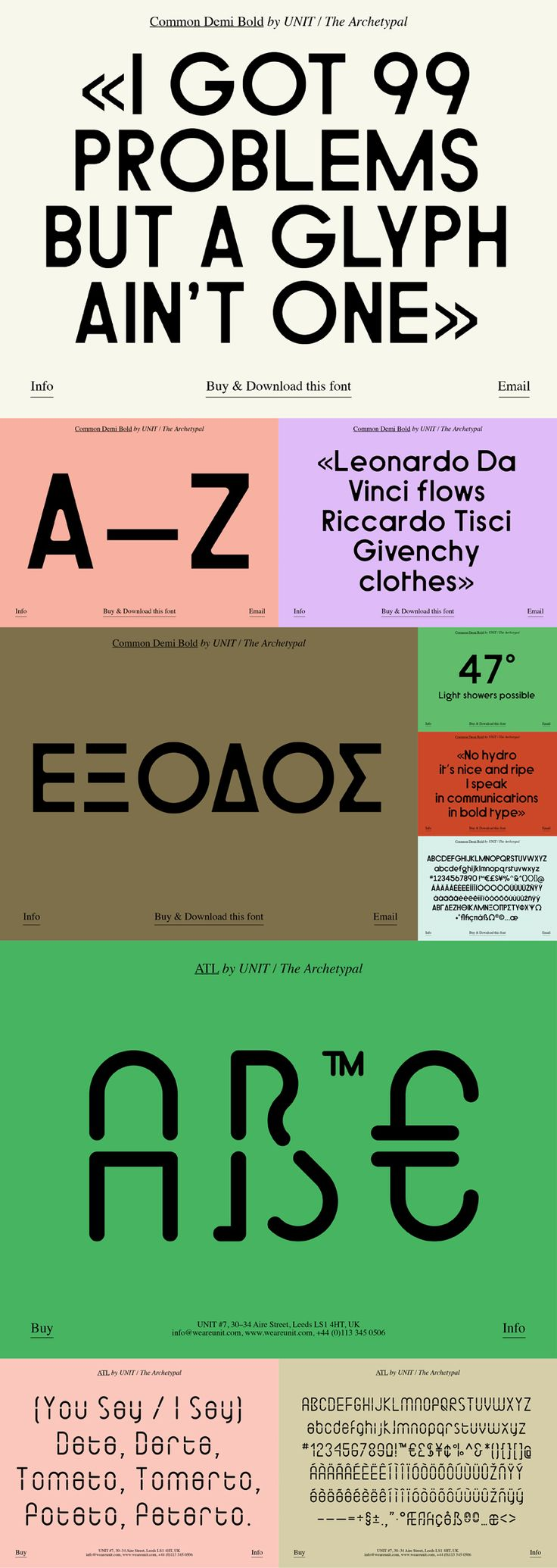 The Archetypal — Various Typefaces