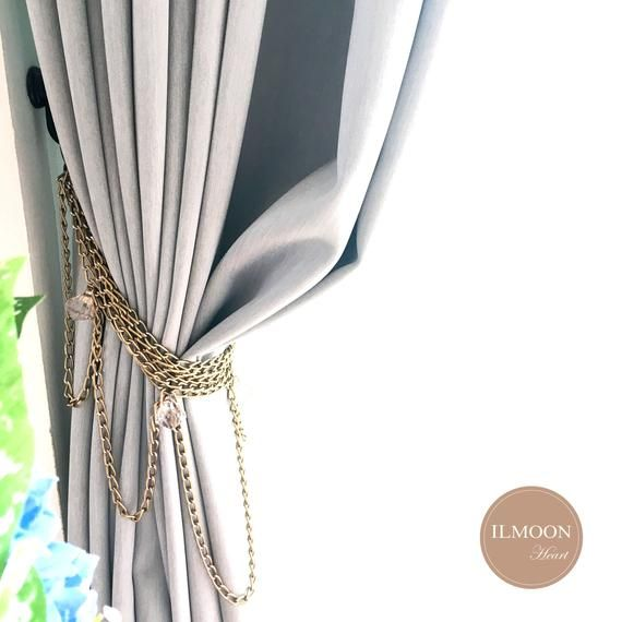Pair X2 Copper Decor Curtain Tie Backs Vintage Accent Shimmer