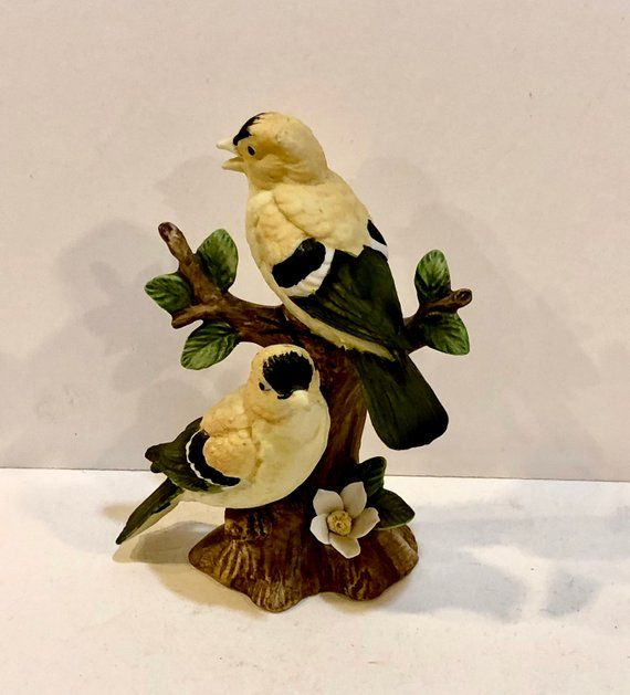 Vintage Lefton Bird Figurine Bisque Yellow Goldfinch Lefton Etsy Vintage Birds Lefton China Bird Lovers