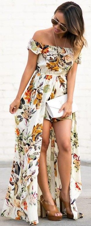 #summer #feminine #outfits |  Floral Maxi Jumpsuit
