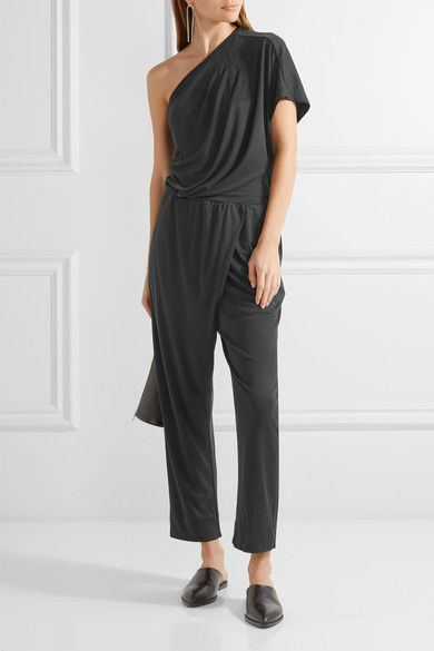 By Malene Birger - Disquon One-shoulder Modal-blend Jersey Jumpsuit - Black -