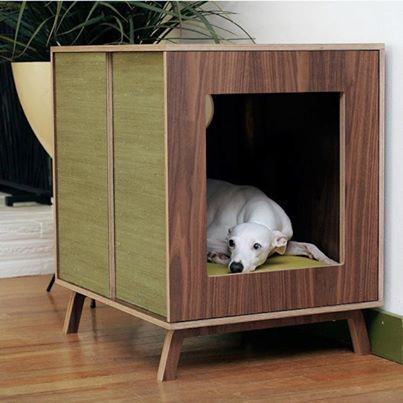 Who likes the sleek design of Mid-century Modern Dog Furniture, by Modernist Cat? Picture credit: http://www.houzz.com/photos/1061611/Midcentury-Modern-Dog-Furniture--Medium-by-Modernist-Cat-modern-pet-care #midcentury, #dogfurniture, #sleek