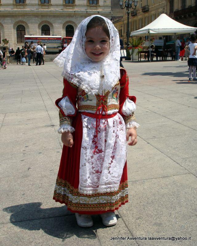 Sardinia Child, traditional Dress