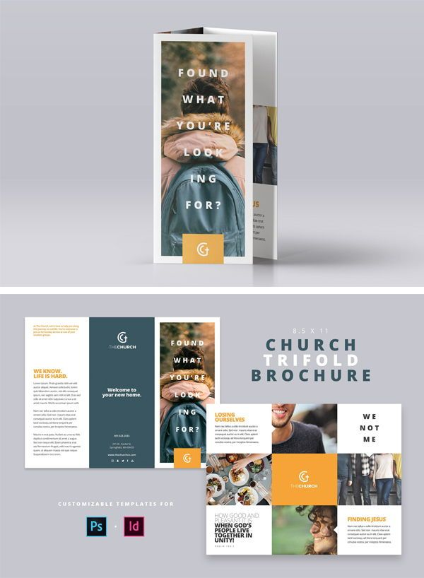 Available In Both Photo And Indesign Templates Size 8 5 X 11 Customizable Trifold Brochure Template Psd Idml