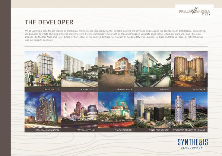 Developer apartemen Prajawangsa City - Synthesis Development