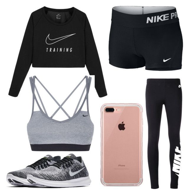 """going to the gym in my active wear 🌸"" by charlotte-mtk on Polyvore featuring NIKE and Belkin"