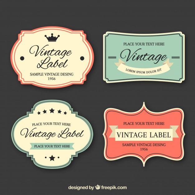 Download Label Collection With Vintage Style For Free Labels Vintage Labels Homemade Tags