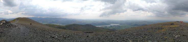 The panoramic view from the summit of Skiddaw mountain.  If you look closely at the foot of Bassenthwaite Lake you may be able to see Armathwaite Hall! With a summit at 931 m (3,054 ft) above sea level it is the fourth highest mountain in England. It lies just north of the town of Keswick. https://www.facebook.com/armathwaite.hall