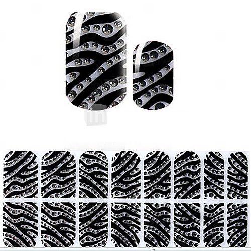 schönen schwarzen Korea DIY Diamant 3d Nagel Aufkleber 2016 - €0.82