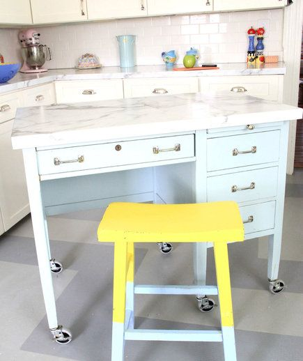 Kitchen Island Made From Old Desk: 17 Best Images About Home Sweet Home On Pinterest
