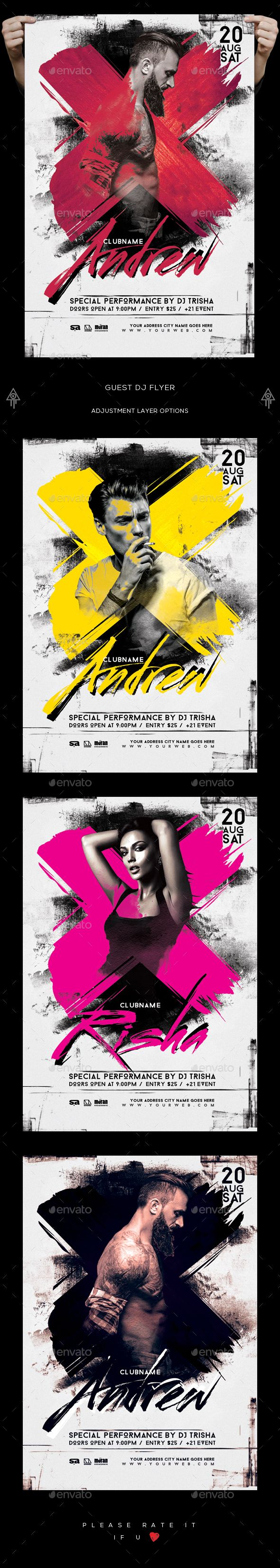 Dj Flyer — Photoshop PSD #special guest dj #concert • Available here → https://graphicriver.net/item/dj-flyer/18348024?ref=pxcr