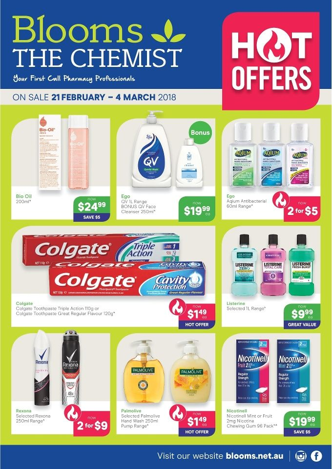 Blooms the Chemist Catalogue 21 February - 4 March 2018 - http://olcatalogue.com/btc/blooms-the-chemist.html