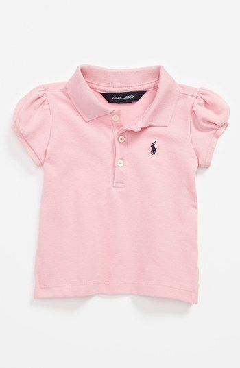 Ralph Lauren Polo Shirt (Baby Girls) available at #Nordstrom