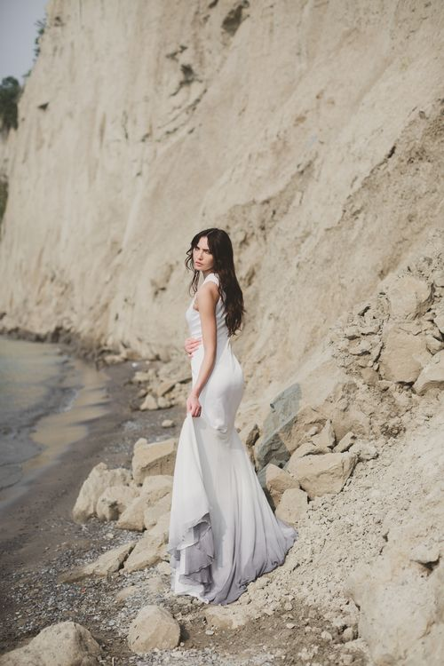 & for love grey ombre modern wedding dress