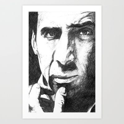 Nicolas Cage Art Print by DeMoose_Art - $20.00 Free Shipping + $5 Off Each Item in your shop!