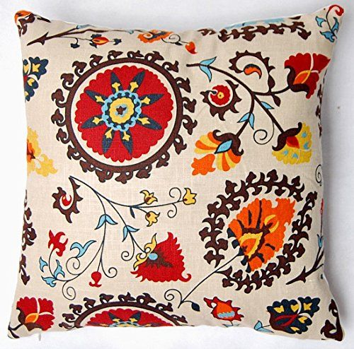 "Red Black Yellow Flower Style Antique Throw Pillow Case Cushion Cover Pillow Cover (24""x24""(60x60cm))"