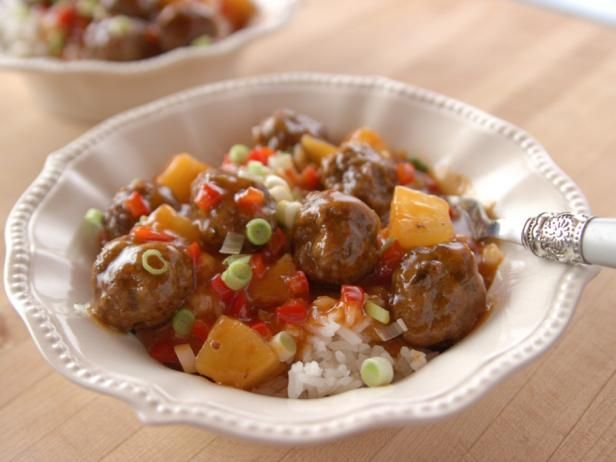 Sweet and Sour Meatballs Recipe from Food Network