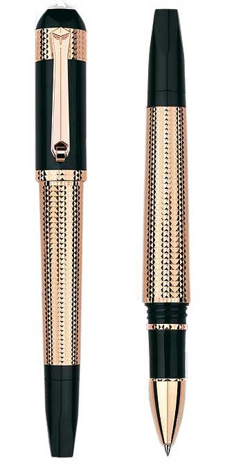 The Ink Flow-Fine Pens Online: TIBALDI Excelsa Rose Gold Limited Edition Fountain Pen.