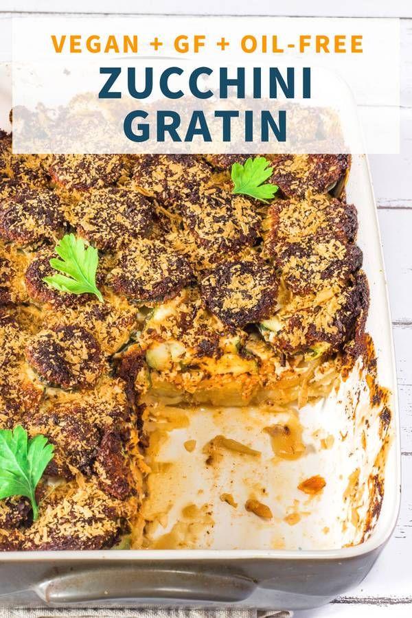Vegan Zucchini And Potato Gratin Oil Free