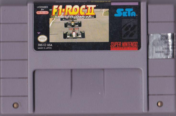 F1 ROC II: Race of Champions Super Nintendo SNES Video Game #Nintendo