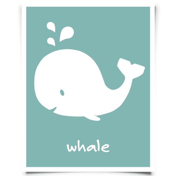 FREE downloadable nursery art and printables. Download your whale art - peacock free printable nursery art courtesy of Chickadee Art and Company.