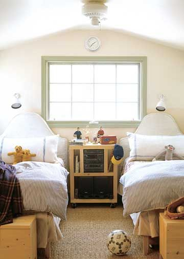 Probably one of the most practical I've seen of kids' rooms.