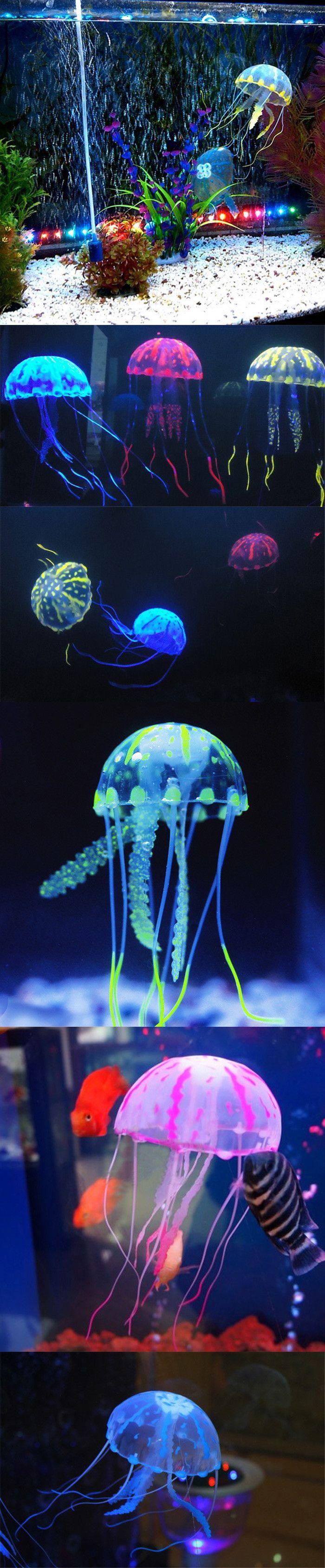 10cm glowing aquarium artificial jellyfish jellyfish for Jelly fish aquarium