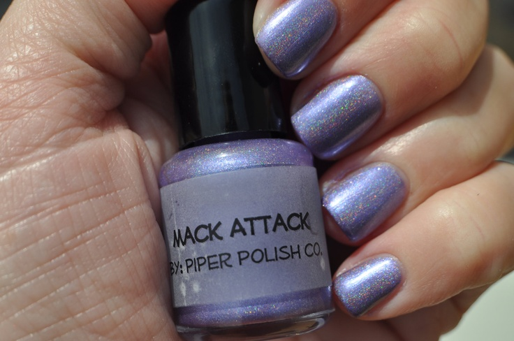 """Linear Holographic Shimmering Purple - """"Mack Attack"""" by Piper Polish - 15 ml Full Size. $10.75, via Etsy."""