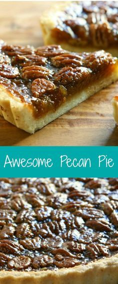 Pecan pie is a great recipe for beginner pie bakers.  The awesomeness is real chocolate chips stirred in with the pecan filling just at the end!